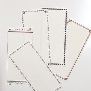 Classic Vintage Border Notes - A