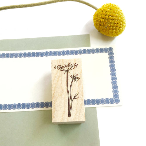 Japanese Wooden Rubber Stamp - Lace Flower