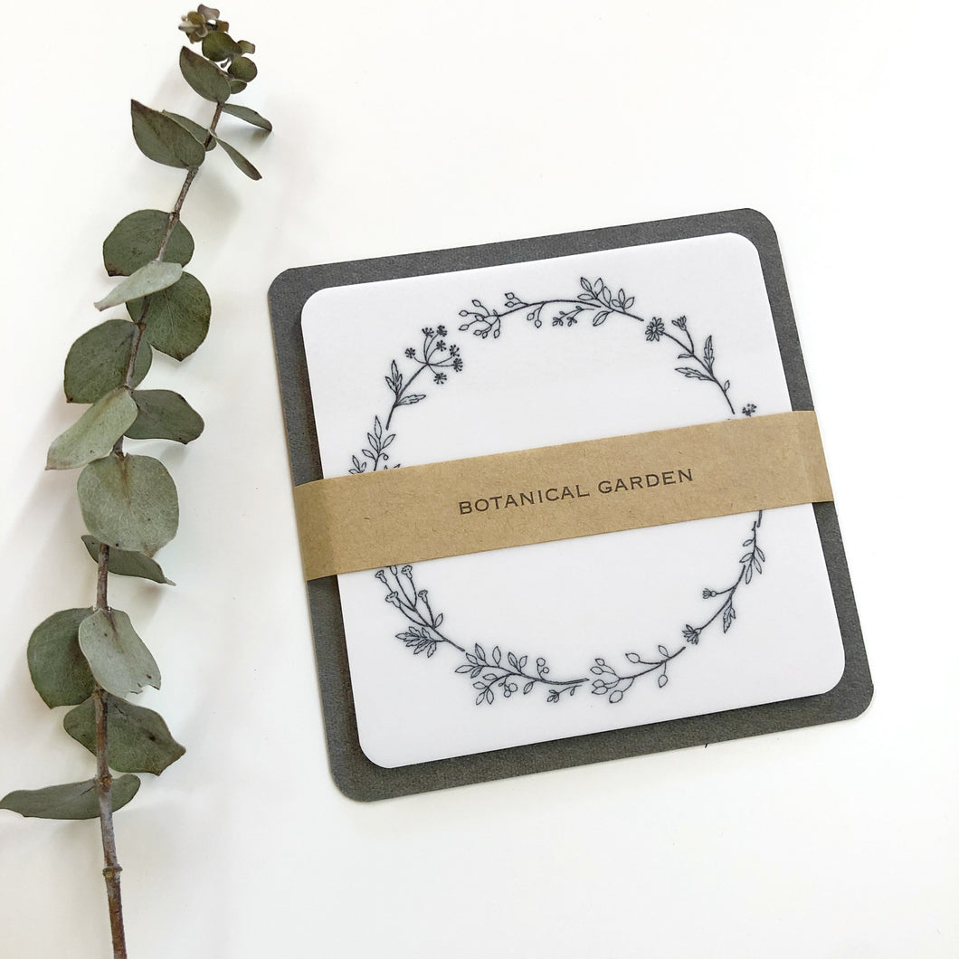 Glassine Sticky Notes - Wreath