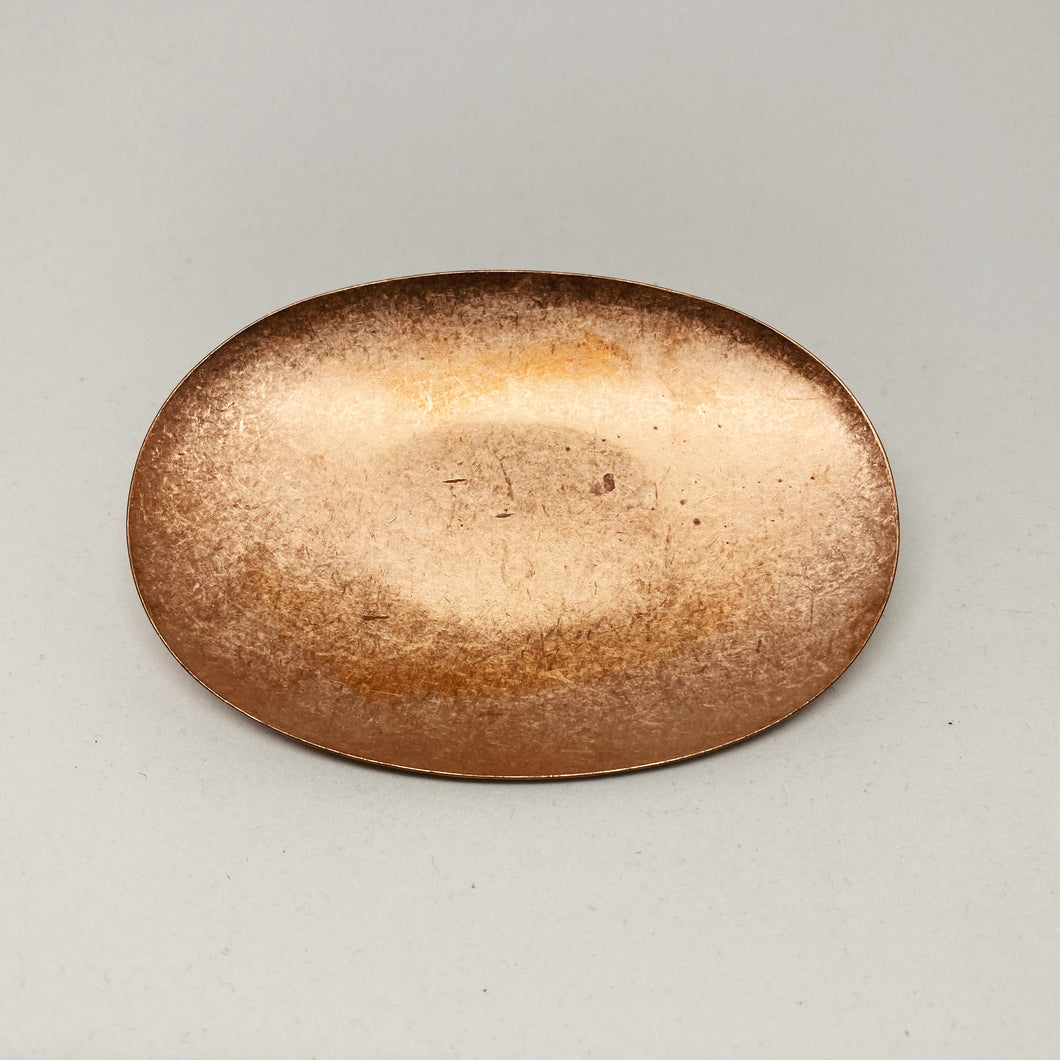 Oval Copper Plate