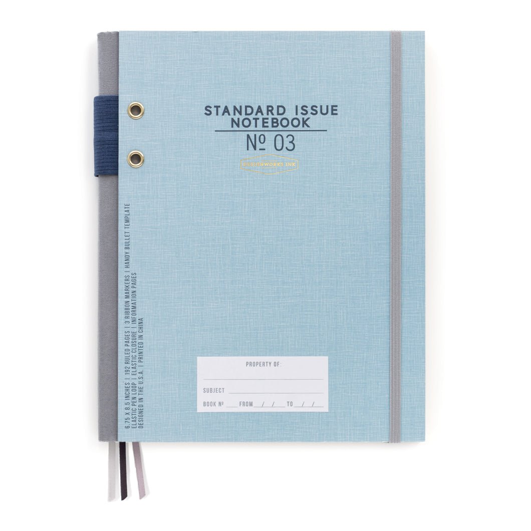 Blue Standard Issue Hardcover Planner - Undated