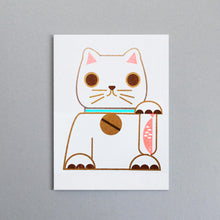 Load image into Gallery viewer, Lucky Cat Mini Card