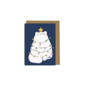 Holiday Lights Cat Cards Pack of 6