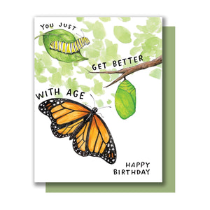 Monarch Birthday Card