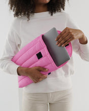 "Load image into Gallery viewer, Pink Puffy Laptop Sleeve 13"" - Baggu"