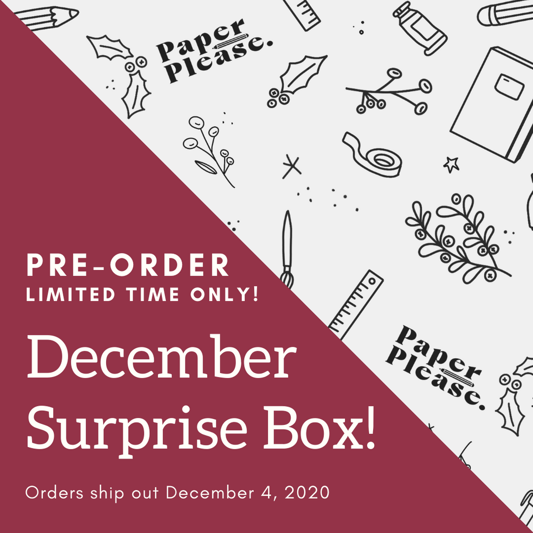 Paper Please Club - December Surprise Box (LIMITED TIME ONLY!)