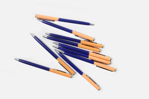 Two Tone Ballpoint Pen - Cobalt/Salmon