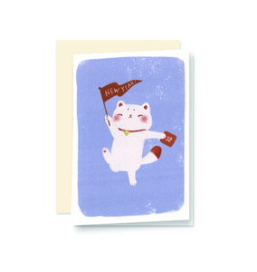 New Year Maneki Neko Mini Cards  - Set of 6