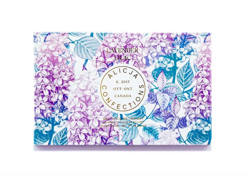 Lavender Lilac Milk Postcard Chocolate Bar