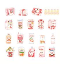 Load image into Gallery viewer, Drink Series - Strawberry Milk Sticker Pack
