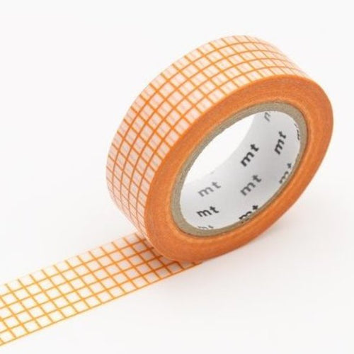 Grid Washi Tape - Mandarin
