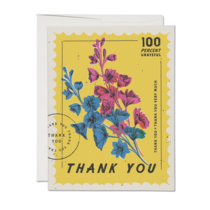 Thank You Postage Card - Set of 8