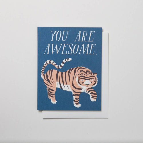 You Are Awesome Note Card with Tiger