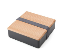Load image into Gallery viewer, Wooden Lid Oju Bento - Charcoal