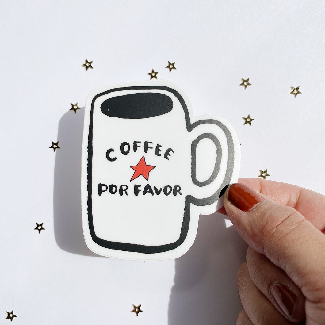Coffee Por Favor Vinyl Sticker