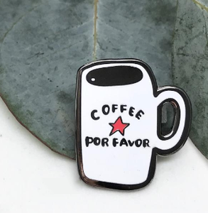 Coffee Por Favor Enamel Pin