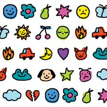 Load image into Gallery viewer, Emojii Doodle Washi Tape