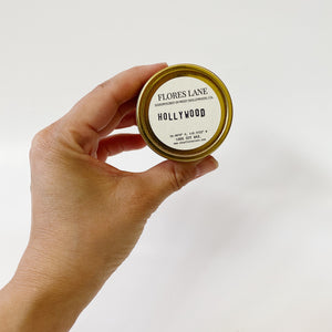 Hollywood - Teakwood & Tobacco Travel Candle