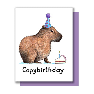 Capybara Birthday Card