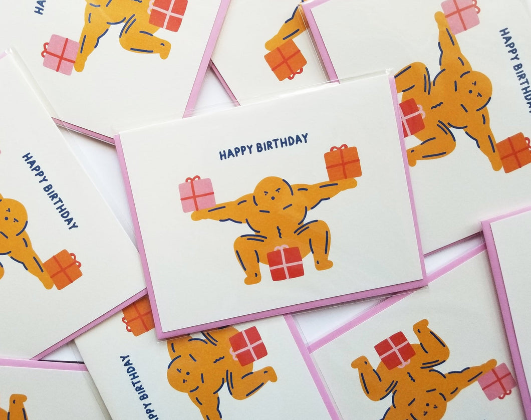 Beefcake Birthday Card