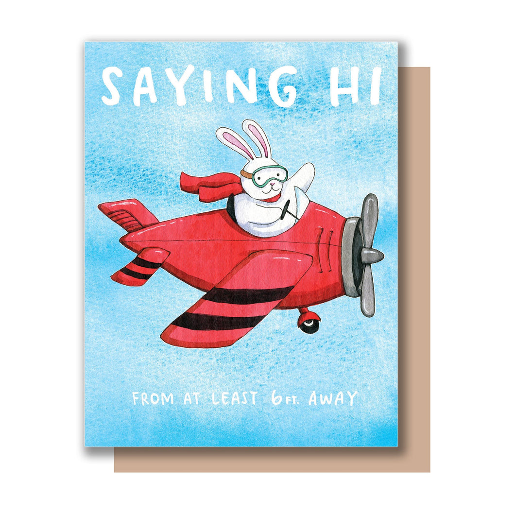 Social Distance Saying Hi Card