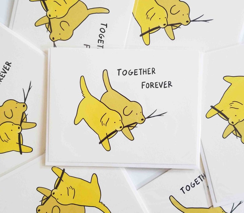 Stick Dogs Together Forever Card
