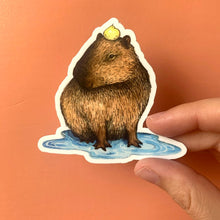Load image into Gallery viewer, Capybara Puddle Sticker