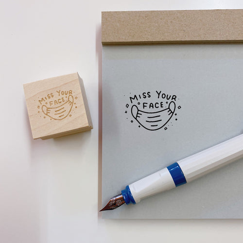 I Miss Your Face Rubber Stamp