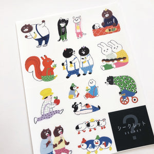 Bear and Friends Sticker Sheet
