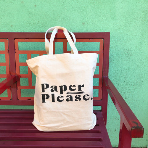 Paper Please Tote Bag