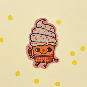 Ice Cream Boy Vinyl Sticker