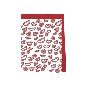 Lips and Berries Card