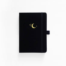 Load image into Gallery viewer, A5 Crescent Moon Linen Dot Grid Notebook