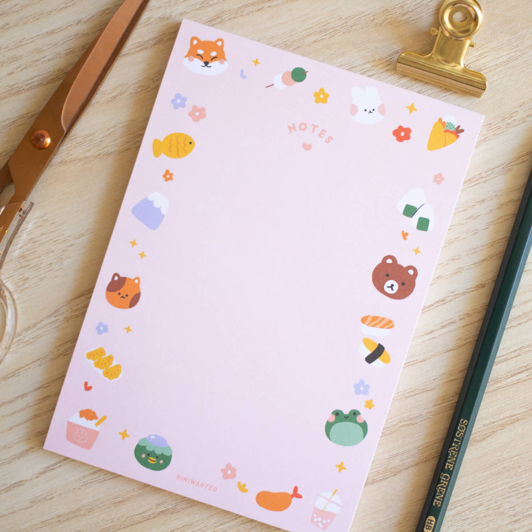 Kawaii Friends Notepad - A6
