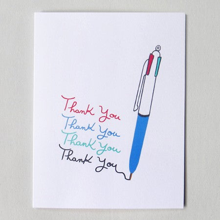 Pen Thanks Card
