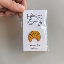 Load image into Gallery viewer, Croissant Enamel Pin