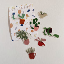 Load image into Gallery viewer, Plants in Pots Sticker Set