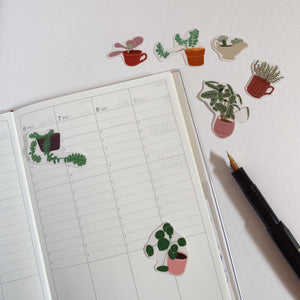 Plants in Pots Sticker Set