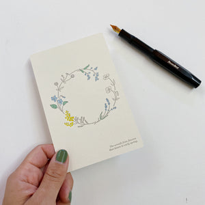 Letterpress Postcard - Spring Wreath