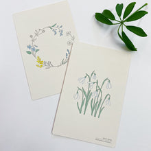 Load image into Gallery viewer, Letterpress Postcard - Snowdrop