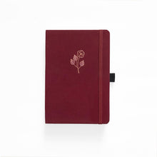 Load image into Gallery viewer, A5 Rose Gold Linen Dot Grid Notebook