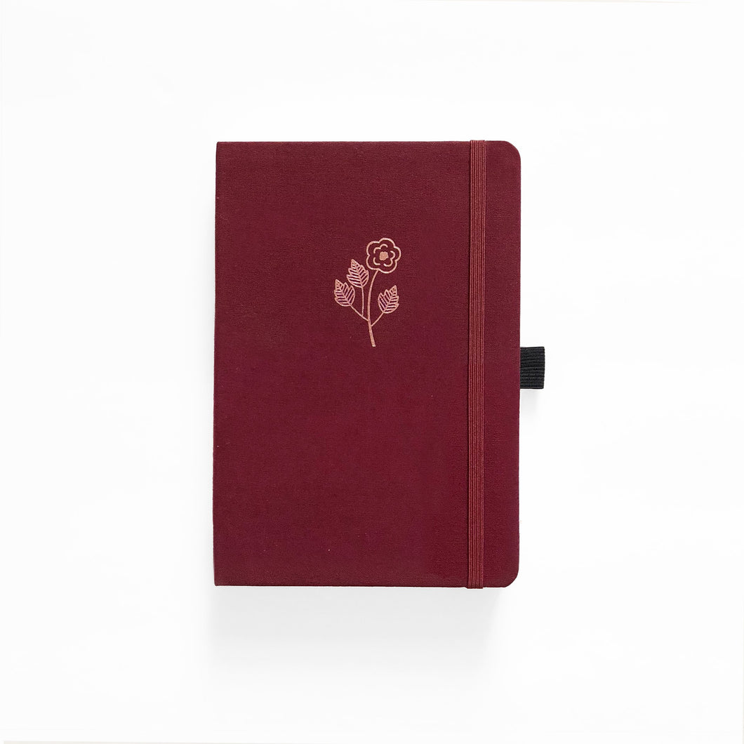 A5 Rose Gold Linen Dot Grid Notebook