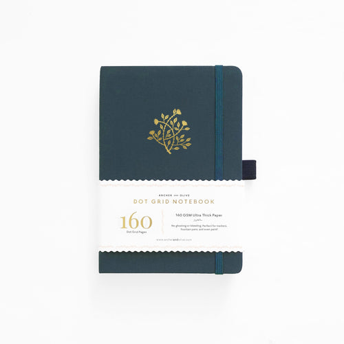 A5 Secret Vine Linen Dot Grid Notebook