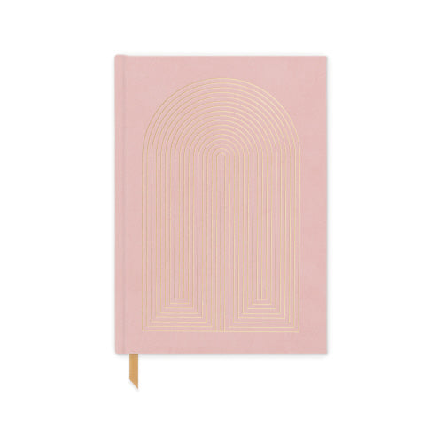 Dusty Pink Radiant Rainbow - Bookcloth Cover Notebook