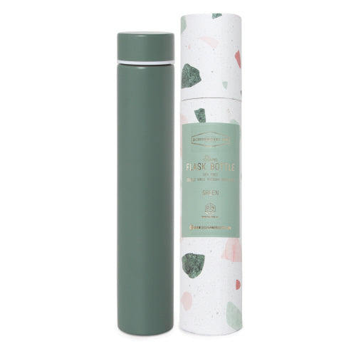 Green Terrazzo - Slim Flask Bottle