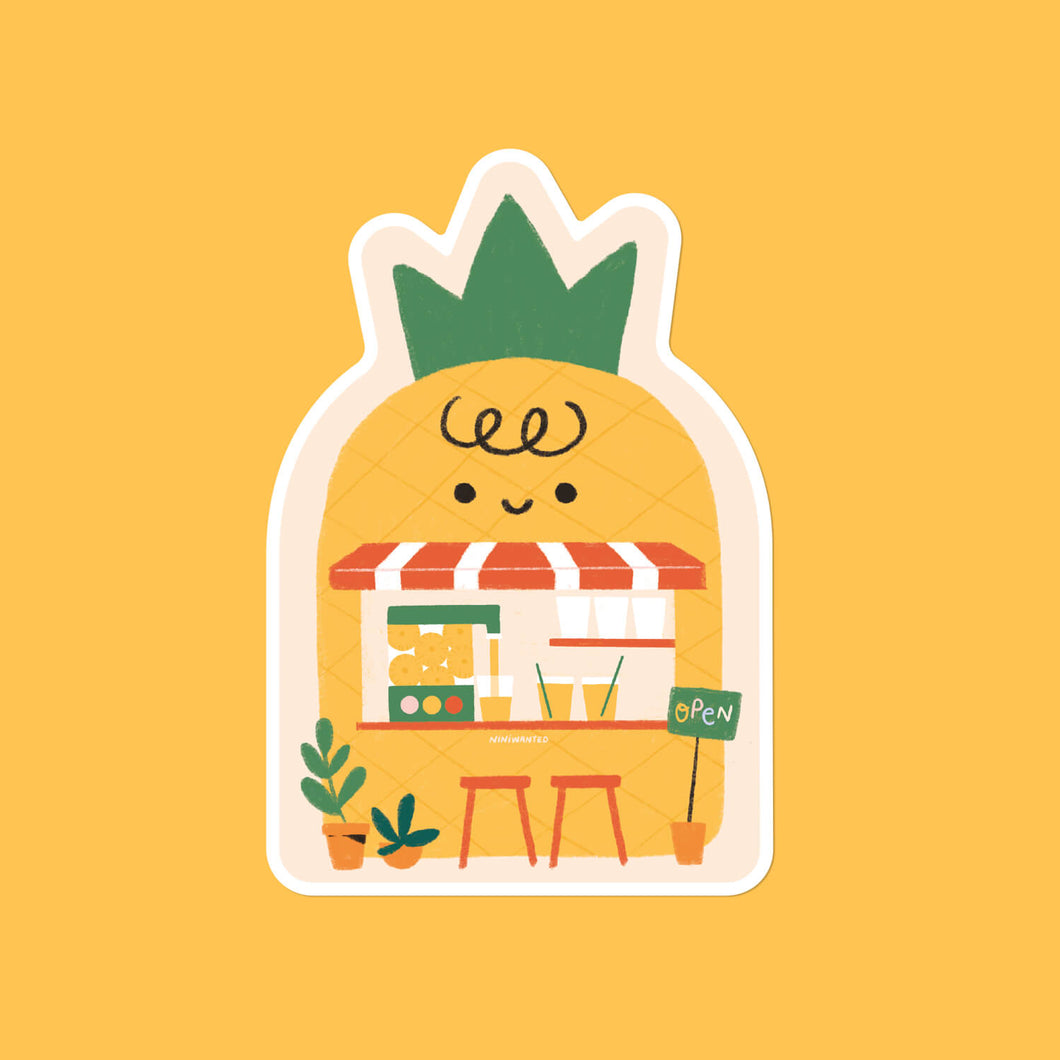 Pineapple Bar Sticker
