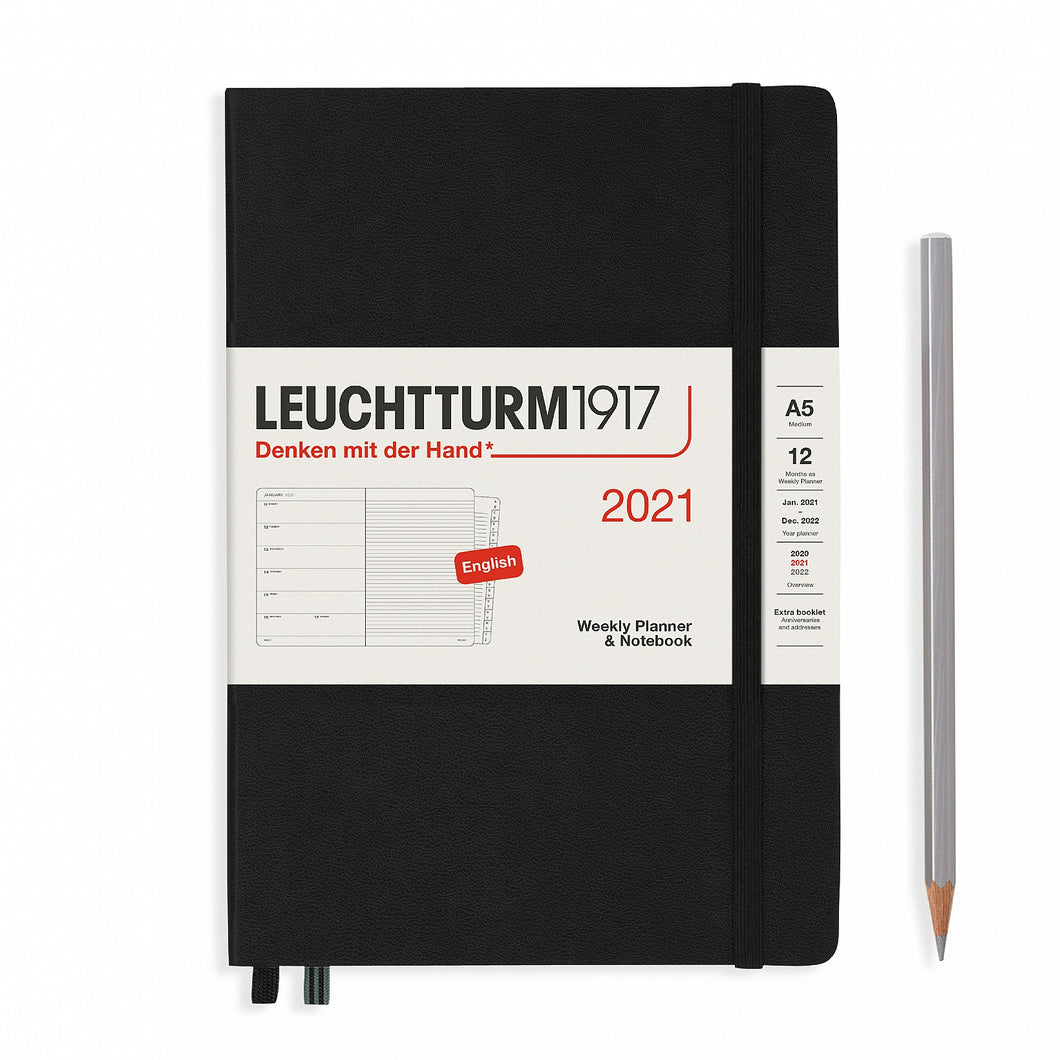 2021 Weekly Planner Hard Cover A5 Notebook