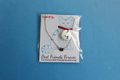 Cat-Human Best Friends Necklace in Sterling Silver
