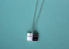 Customizable Open Book Necklace