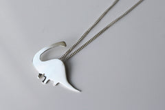 Brontosaurus (or Apatosaurus) Dinosaur Necklace in sterling silver